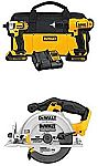 DEWALT 20v Lithium Drill Driver/Impact Combo Kit with Circular Saw $199 (Org $268)