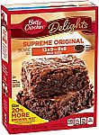 8-pack Betty Crocker Delights, Supreme Original Brownie Mix, 22.25 Oz Box $9.05