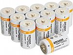 12-pack AmazonBasics D Cell Everyday Alkaline Batteries $5.12 With Subscribe