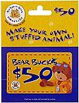 $50 Build-A-Bear Gift Card $40