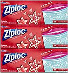 114 - count Ziploc Limited Edition Holiday Storage Bags, Gallon $7.55