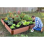 "Classic Sienna Raised Garden Bed 8' x 8' x 11"" - 1"" Profile $144 Shipped"