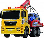 "Dickie Toys 21"" Air Pump Action Tow Truck Vehicle $11 (Lowest Price!)"