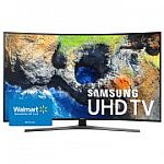 "Samsung 55"" Class Curved 4K (2160P) Smart LED TV (UN55MU7500) + $200 Walmart Gift Card $665 and more"