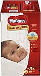216 Ct HUGGIES Little Snugglers Baby Diapers, Size 1 $24.74