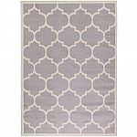Berrnour Home Contemporary Moroccan Trellis Gray 7 ft. 10 in. x 9 ft. 10 in. Area Rug $58 (Org $116) + Free Shipping