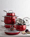 Belgique Aluminum 11-Pc. Cookware Set $83 (Org $300)
