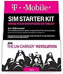 T-Mobile Prepaid Complete SIM Starter Kit – $25 Amazon Gift Card with Activation $8.95
