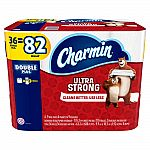 72 count Charmin Ultra Strong Toilet Paper - Double Plus Rolls $30