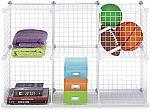 Whitmor Storage Cubes Set of 6 White Wire $19.79