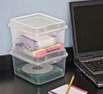 12-pk Sterilite Clear Flip Top Storage Box Container $11.52 (48% Off)