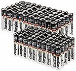 50-count AA and 50-count AAA Energizer MAX Batteries $35 (69% Off)