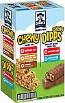 58-Count Quaker Chewy Granola Bars and Dipps Variety Pack $9.09