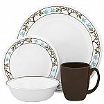Corelle Livingware Tree Bird 16-Piece Dinnerware Set + $40 Cashback for SYWR Members for $60 + Free Shipping and More