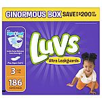 Luvs Ultra Leakguards Diapers, Size 3 - 186 count $15.97 (or $12.98 for Google Express first time users)