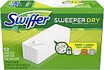 52-Count Swiffer Sweeper Dry Sweeping Pad, Multi Surface Refills for Dusters Floor Mop $9.37