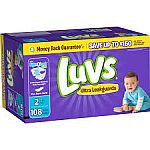 108-Count Luvs Ultra Leakguards Size 2 Diapers $5 or Less
