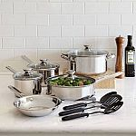 12-Piece Cooks Stainless Steel Cookware Set $1 AR