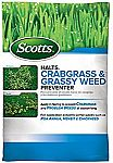 Scotts Halts Crabgrass & Grassy Weed Preventer, 5,000-sq ft $11.45