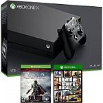 Xbox One X 1TB Gaming Console with Assassin's Creed: The Ezio Collection + GTA:V $499