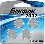 4-Pack Energizer 3V Watch/Electronic Lithium Coin Batteries (2032) $3.26