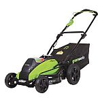 Greenworks 19-Inch 40V Cordless Lawn Mower, 4.0 AH & 2.0 AH Batteries Included 2500502 $168