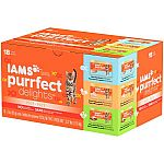 18-Ct. of 3-oz IAMS PURRFECT DELIGHTS Pate in Gravy Variety Pack Canned Cat Food $0.98 (Price Mistake?)