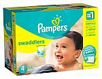 204-Ct Pampers Swaddlers Diapers (Size 2) $33.87 ($0.16/Count), 180-Ct Pampers Swaddlers (Size 3) $33.87 ($0.18/Count) and More