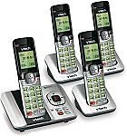 4-Piece VTech 6.0 Phone Answering System with Caller ID/Call Waiting $49.80