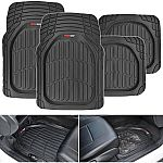 MotorTrend FlexTough Heavy-Duty Rubber Floor Mats (All Weather) $13.55, Car Trunk Organizer - Storage with Straps $17