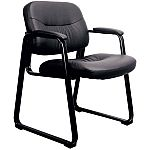 OFM Leather Executive Side Chair with Sled Base $47 (Save 69%)