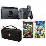 Nintendo Switch Bundle with Travel Case, Mario Rabbids Kingdom Battle & Rocket League Collectors Edition Video Games $340 (w/ Visa Checkout)