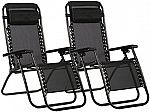 2x Zero Gravity Chairs Lounge Patio Chairs $40 (Various Colors)