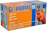 100-Count Gloveworks HD Orange Nitrile Gloves (8mil) $7.83 (Medium, Large, XL)