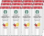 12-count Starbucks Refreshers, Strawberry Lemonade with Coconut Water, 12 Ounce Cans $13.50