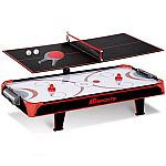 MD Sports 44 inch Air Powered Hockey Table Top with Table Tennis Top with APP Scorer $15 (Was $60)