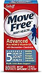Move Free Advanced Plus MSM and Vitamin D3, 80 tablets - Joint Health Supplement with Glucosamine and Chondroitin $13.99 (org $29.99) & More