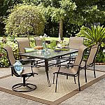 Garden Oasis Harrison 7 pc. Textured Glass-Top Dining Set $250 (orig. $600)