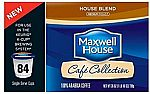 84 K-Cups of Maxwell House Blend Coffee $19.81