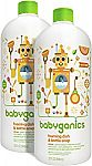 Babyganics Foaming Dish and Bottle Soap Refill, Citrus, 32oz Bottle (Pack of 2) $8.66