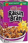 3x Kellogg's Raisin Bran Breakfast Cereal, 18.7 Ounce Box $4.50