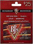 $25 BJ's Restaurant Gift Card: $20