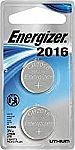2-Count Energizer Lithium Coin Watch/Electronic Battery 2016 $1.90
