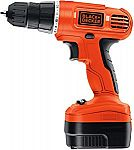 Black & Decker 12-Volt Cordless Drill with Over Molds $30