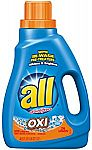 all Liquid Laundry Detergent with OXI Stain Removers and Whiteners, 46.5 Fluid Ounces, 26 Loads $2.84