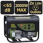 Sportsman Gasoline 2000W Portable Generator $149 (orig. $259), GEN4000DF (Dual Fuel) $249
