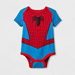 Marvel Baby Spider-Man Short Sleeve Bodysuit - Blue/Red $1.48 and more