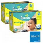 2-Pack Pampers Swaddlers Diapers  Giant Bundle $60 + Get FREE $20 eGift Card
