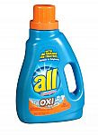 2-Pack of 46.5oz all Liquid Laundry Detergent w/ OXI Stain Removers $3 and More