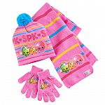Girls 4-16 Shopkins Apple Blossom, Kooky Cookie & D'Lish Donut Hat, Gloves & Scarf Set $5 (orig. $24) + Free Shipping (Kohls Card Req'd)